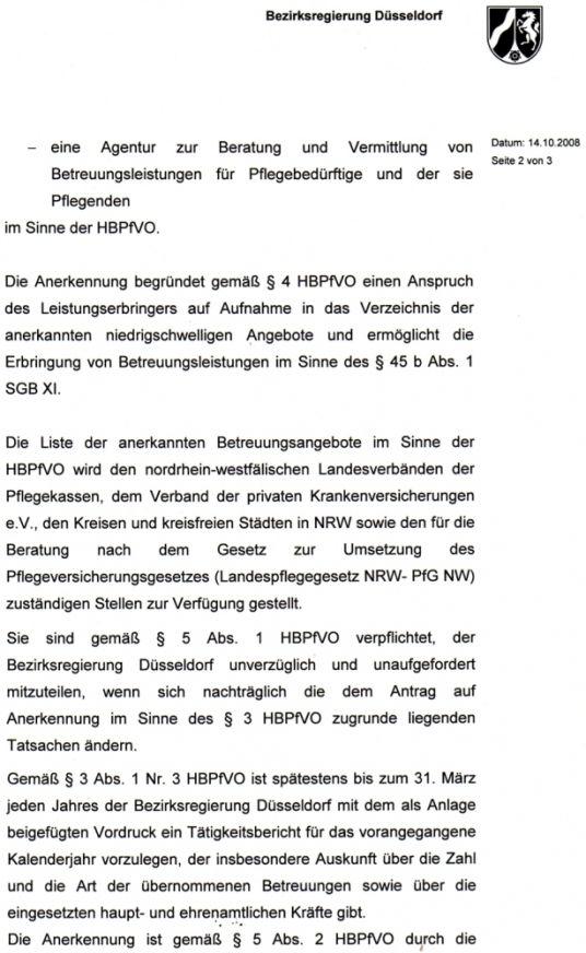 Anerkennung Düsseldorf Pflegedienst Düsseldorf